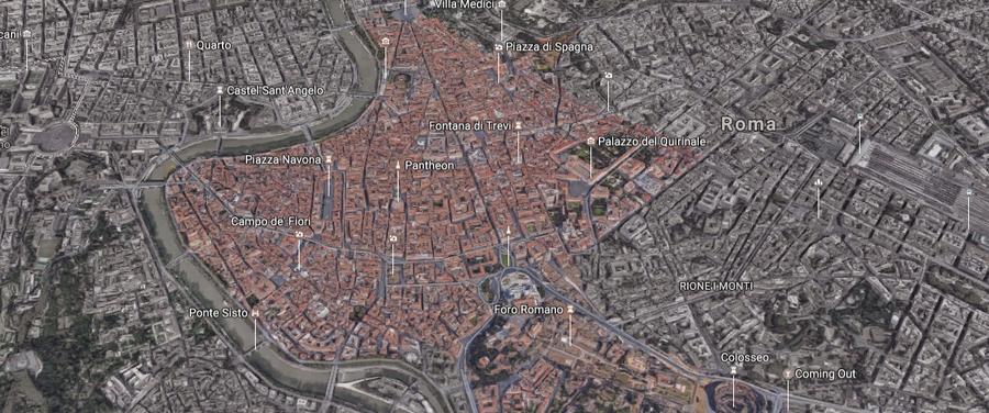 Roma Centro Cartina.Mappa Ztl Roma